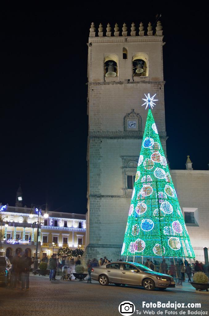 Fotografía de iluminación navideña en Badajoz