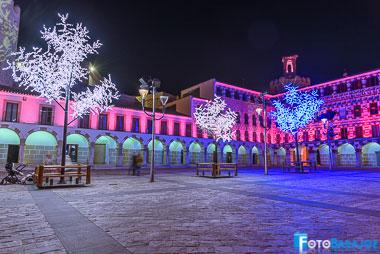 Foto de la iluminación de navidad en Badajoz 2017-18